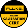 Includes Fluke 12-months Calibration Cert