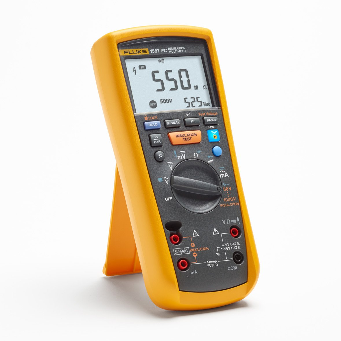 Fluke Voltmeter Tester : Fluke fc insulation multimeter with connect