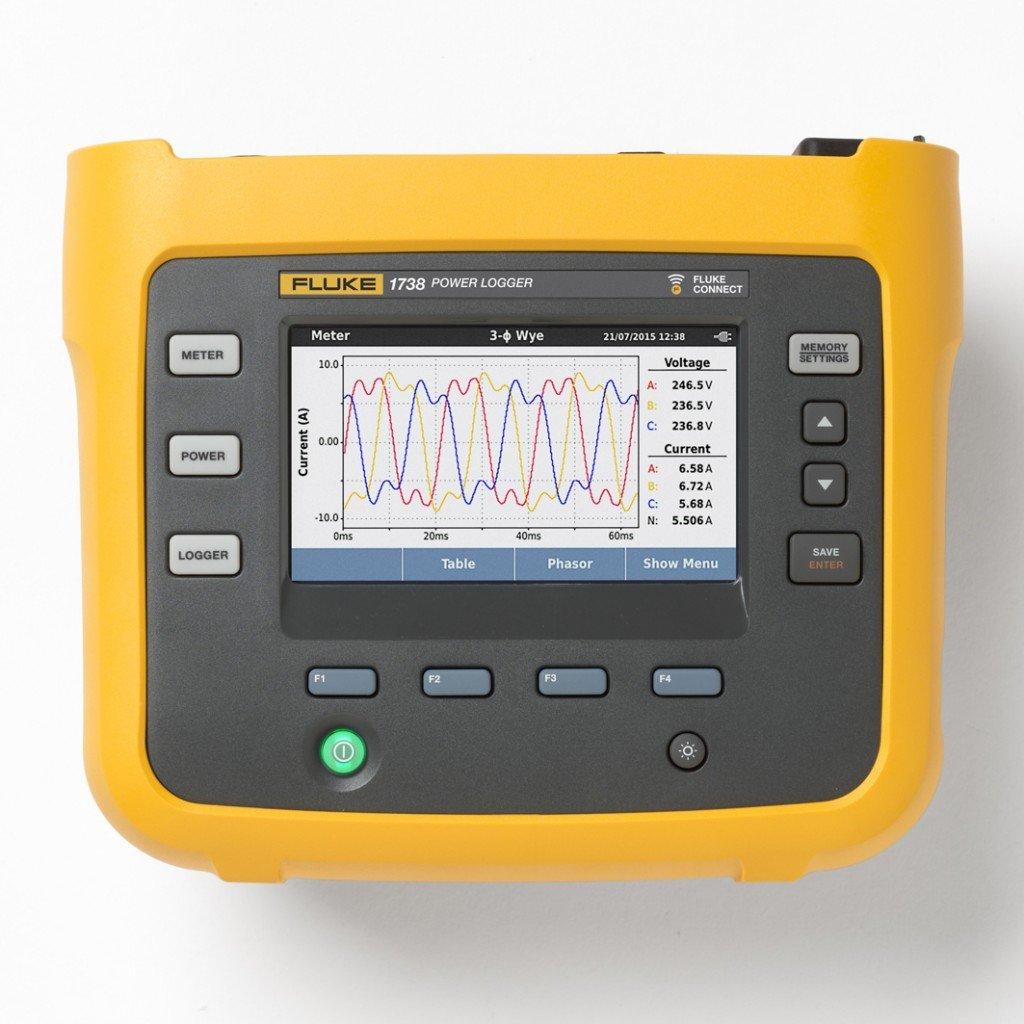 Fluke 1738 Three Phase Power Quality Analyser Gallery Image