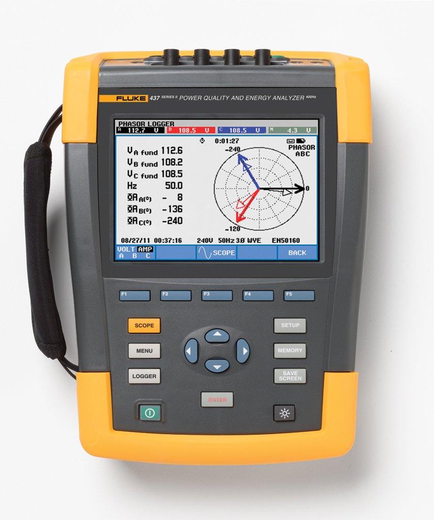 Fluke 437-II Three-Phase Power Quality Analyser