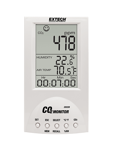 Extech CO220: Desktop Indoor Air Quality CO2