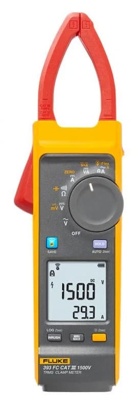 Fluke 393 FC CAT III / 1500 V TRMS Clamp Meter with iFlex